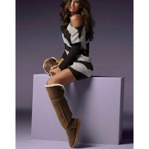 UGG OVER THE KNEE Boots BAILEY BUTTON Chestnut